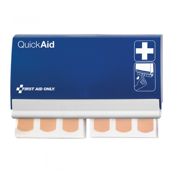 Dispenser plasturi First Aid Only, Quick Aid, rezistenti la apa, 90 plasturi