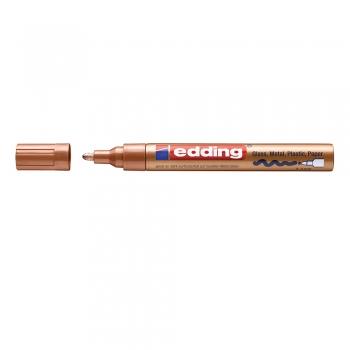 Marker Edding 750 cu vopsea corp metalic varf 2-4mm cupru, rezistent, durabil, varf rotund