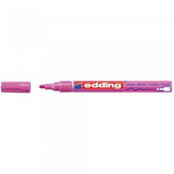 Marker permanent Edding 751 cu vopsea, varf 1-2MM, roz