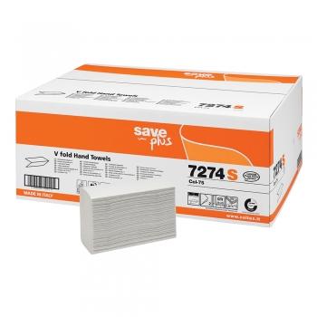 Prosoape pliate V, Celtex Save 7274S, alb, 2 straturi, 25x22 cm, 200 bucati/pachet