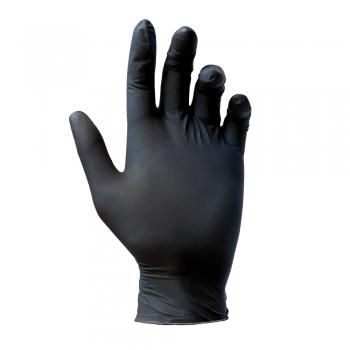 Manusi nitril, Reflexx, nepudrate, 0.08 mm, negre, 100 bucati/cutie, marimea M