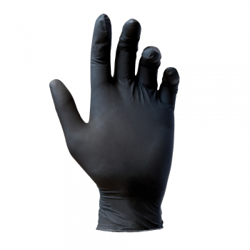Manusi nitril, Reflexx, nepudrate, 0.08 mm, negre, 100 bucati/cutie, marimea XL