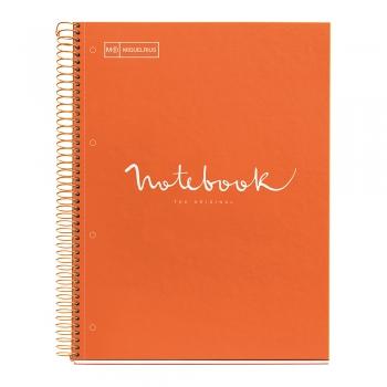 Caiet cu spira, Miquelrius, Emotion, A4, matematica, 80 file, coperta carton dur, portocaliu