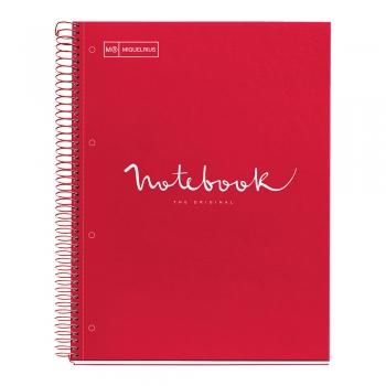 Caiet cu spira, Miquelrius, Emotion, A4, matematica, 80 file, coperta carton dur, rosu