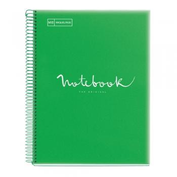 Caiet cu spira, Miquelrius, Emotion, A4, matematica, 80 file, coperta PP, verde