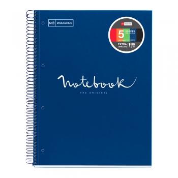 Caiet cu spira, Miquelrius, Emotion, A4, matematica, 120 file, coperta carton dur, albastru