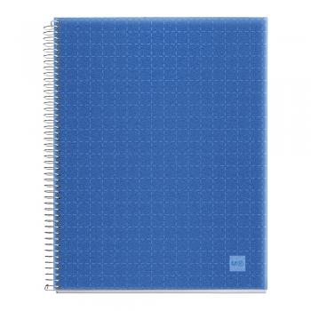 Caiet cu spira, Miquelrius, Candy Code, A7, matematica, 140 file, coperta PP, bleu