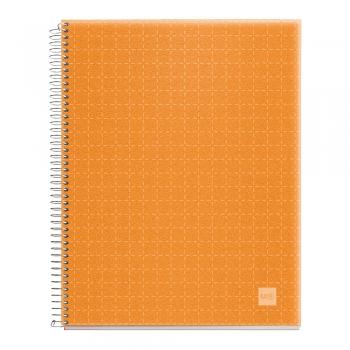 Caiet cu spira, Miquelrius, Candy Code, A4, matematica, 140 file, coperta PP, mandarina