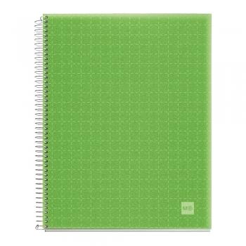 Caiet cu spira, Miquelrius, Candy Code, A4, matematica, 140 file, coperta PP, mar verde