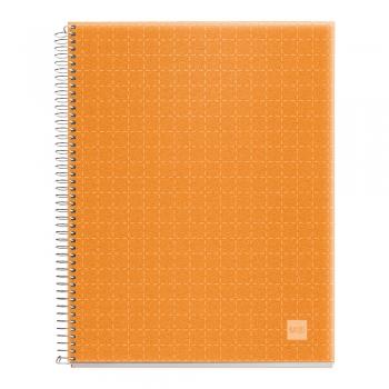 Caiet cu spira, Miquelrius, Candy Code, A5, matematica, 140 file, coperta PP, mandarina