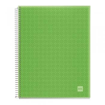 Caiet cu spira, Miquelrius, Candy Code, A5, matematica, 140 file, coperta PP, mar verde