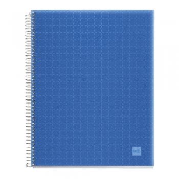 Caiet cu spira, Miquelrius, Candy Code, A5, matematica, 140 file, coperta PP, bleu