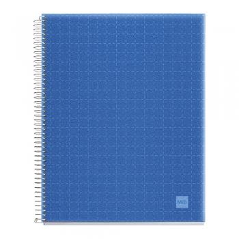 Caiet cu spira, Miquelrius, Candy Code, A4, dictando, 140 file, coperta PP, bleu