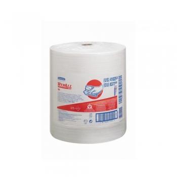 Lavete industriale, Kimberly-Clark, Wypall X80, 34x31.5 cm, alb, 475 portii/rola