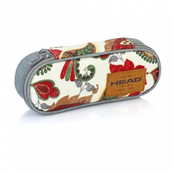Penar Head HD-77, 1 compartiment, gri cu design floral