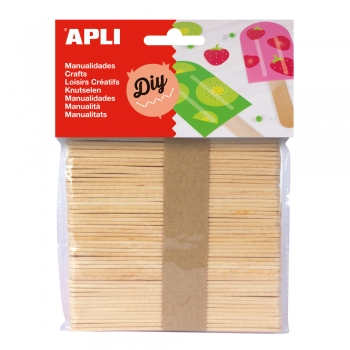 Betisoare lemn natur APLI, 50 bucati/set