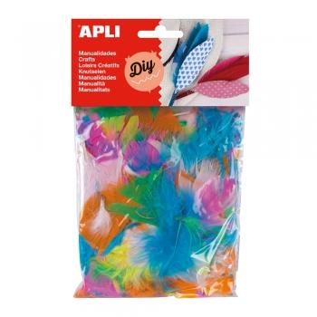 Pene culori asortate APLI, 14 g/punga