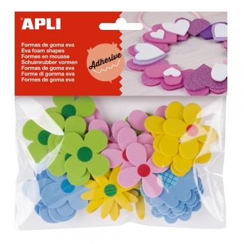 Forme autoadezive APLI, flori, 40 bucati/set
