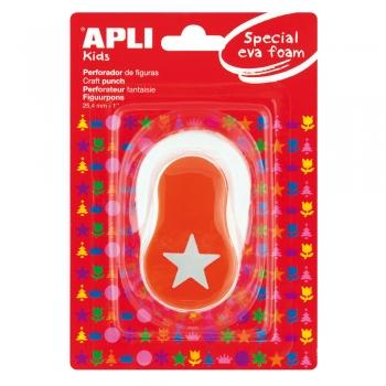 Perforator APLI, model stea, portocaliu