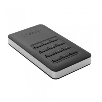 SSD Verbatim Store N Go 256 GB, criptare AES, memorie flash, tastatura incorporata