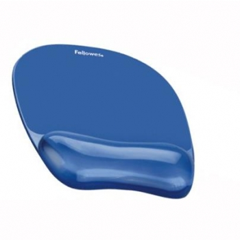 Mouse Pad Si Suport Incheieturi Albastru Gel Crystal Fellowes