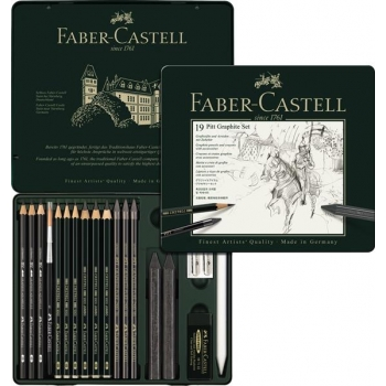 Set Pitt Monochrome Grafit 19 Buc Faber-Castell