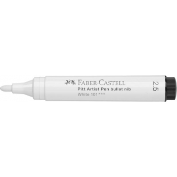 Pitt Artist Pen Big Brush Alb Faber-Castell