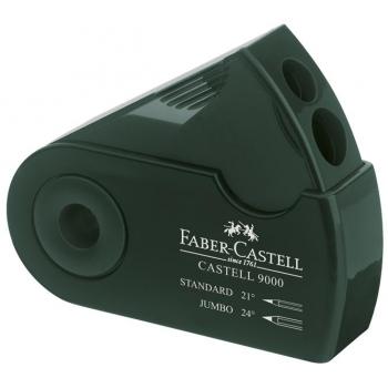 Ascutitoare Plastic Dubla Sleeve Verde Faber-Castell