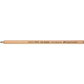 Creion Ulei Pastel Pitt Negru Mediu Faber-Castell