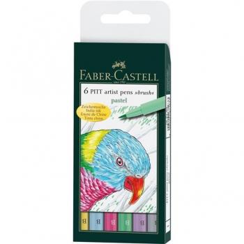 Pitt Artist Pen Set 6 Buc Pastel Faber-Castell