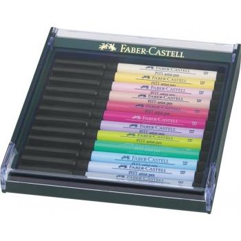Cutie 12 Culori Pitt Artist Pen Nuante Pastel Faber-Castell