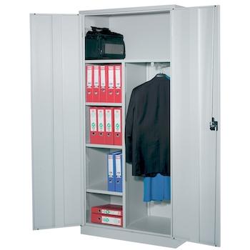 Dulap metalic Ceha, gri, 92x50x195 cm, spatiu pentru haine si 3 polite