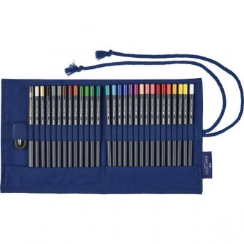 Rollup 27 Creioane Colorate Goldfaber si Accesorii Faber-Castell