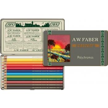 Creioane Colorate 12 Culori 111 Ani Polychromos Faber-Castell