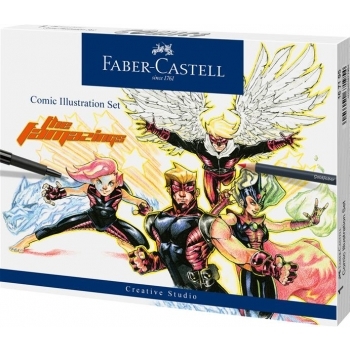 Set Comic Illustration 15 Piese Faber-Castell