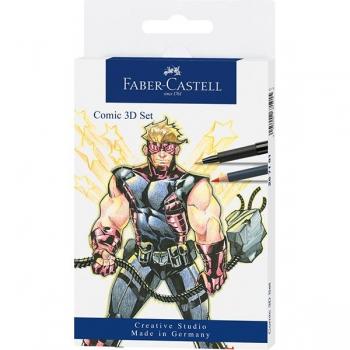 Set Pitt Artist Pen Comic 11 Piese Faber-Castell