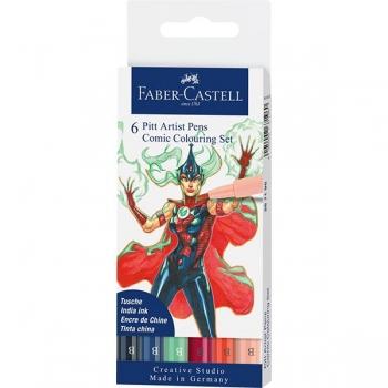 Pitt Artist Pen Set 6 Buc Comic Faber-Castell