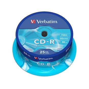 CD-R Verbatim, 52x, 700 MB, 25 bucati/cake