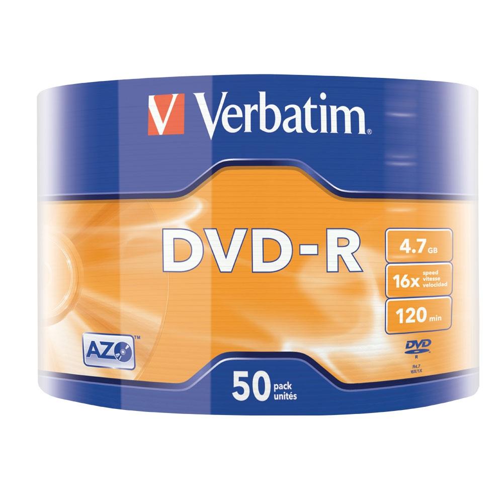 DVD-R Verbatim, 16x, 4.7 GB, 50 bucati/shrink