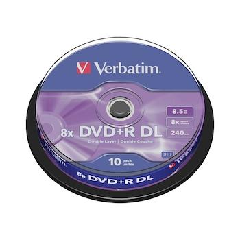DVD+R double layer Verbatim, 8x, 8.5 GB, 10 bucati/spindle