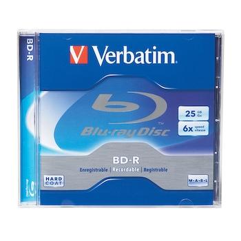 Blu-Ray Verbatim Single Layer, 6x, 25 GB, bucata/jewel