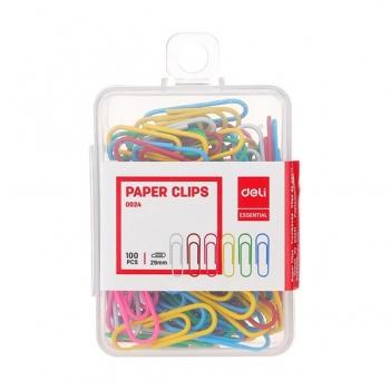 Agrafe Metal 29mm Color 100 Buc Cutie Plastic Deli