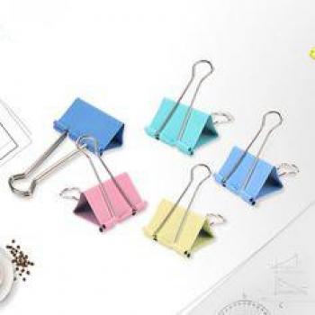 Clips Hartie Color Cutie Plastic Deli