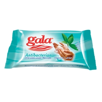 Servetele umede Gala, antibacteriene, 15 bucati/pachet