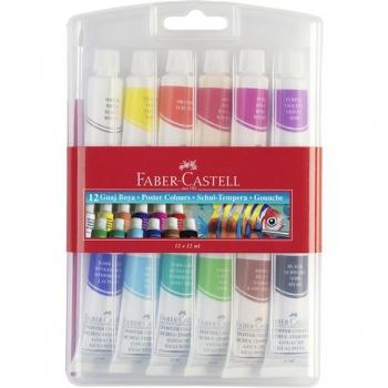 Tempera 12 Culori 12 ml Faber-Castell