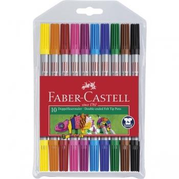Carioca 10 Culori 2 Capete Faber-Castell