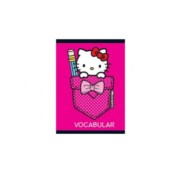 Caiet Capsat 12X17Cm 24 Vocabular Hello Kitty Pigna