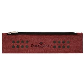 Etui Instrumente De Scris Grip Melange Rosu Marsala Faber-Castell