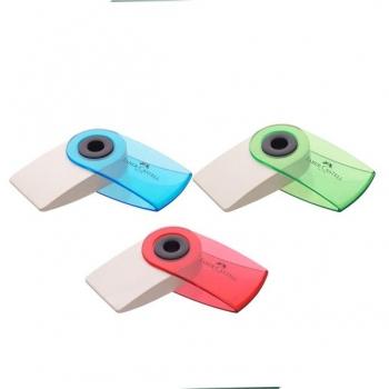 Radiera Creion Sleeve Mini Culori Transparente Faber-Castell