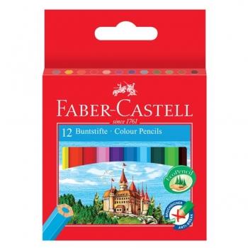 Creioane Colorate 12 Culori Lungime 1/2 Faber-Castell